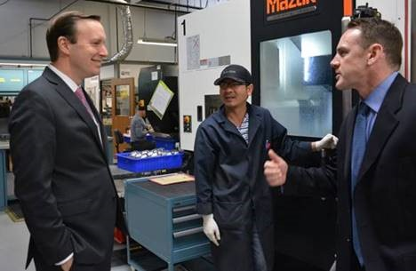 U S Senator Chris Murphy Highlights Beta Shim As Murphy S Monday Manufacturer
